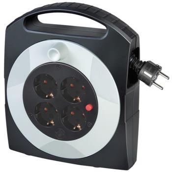 Primera-Line Kabelbox 4-fach schwarz/lichtgrau 10m