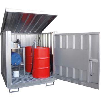 Gefahrstoff-Depot für 4 x 200l Fässer LxBxH 1525x1