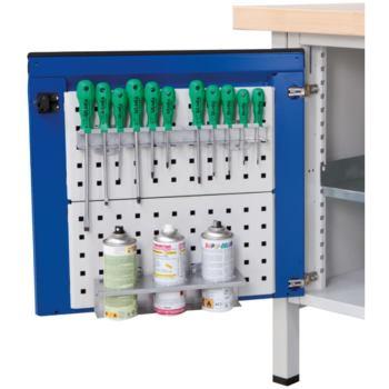 Werkzeugpaneel für Türinnenseite RAL 7035 lic