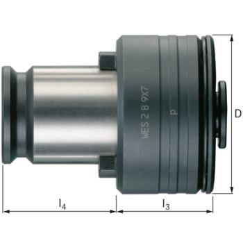 Gewinde-Schnellwechseleinsatz Größe 2 14,0 mm mit Sicherheitskupplung
