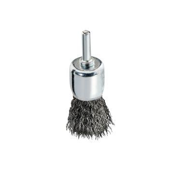 Stahldraht-Pinselbürste mit Spannschaft 6mm