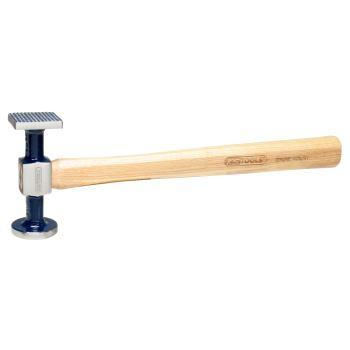 Karosserie-Riffelhammer fein, rund/eckig, 325mm 14