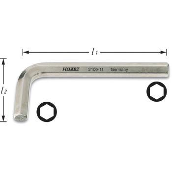 Winkelschraubendreher 2100-04 · s: 4 mm· Innen-Sechskant Profil