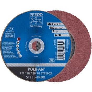 POLIFAN®-Fächerscheibe PFF 180 A 80 SG/22,23