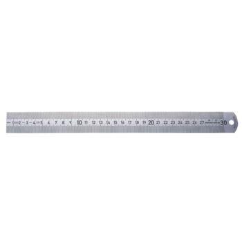 Maßstab nichtrostend 500 mm mattverchromt