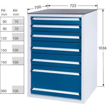 Werkzeugschrank System 700 S, Modell 32/6 GS -