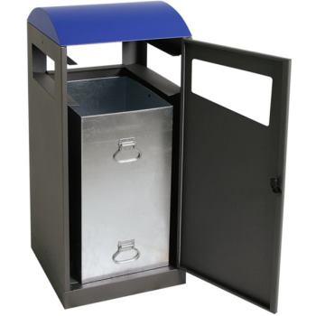 Wertstoffsammler f.Draußen enzianblau HxBxT 1050x4