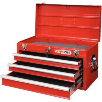 Werkzeugtruhe mit 3 Schubladen-rot 891.0003