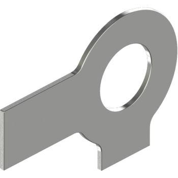 Sicherungsbleche m.2 Lappen DIN 463 -Edelstahl A2 6,4 für M 6