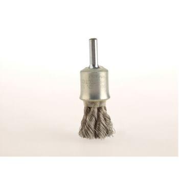 Zopf-Pinselbürsten mit 6 mm Schaft Drm 19 mm 6 Z öpfe mit Blume Stahldraht rostfrei RO4 glatt 0,2