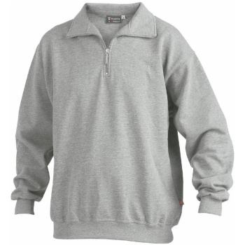 Sweatshirt Zip grau-melange Gr. XS