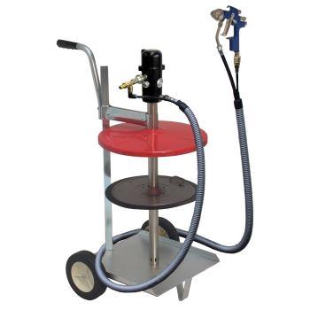 pneuMATO 55 - LubeJet, fahrbar für 200 kg Fässer,