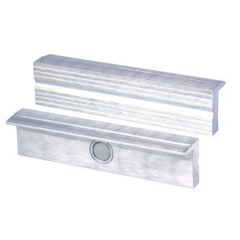 Magnet-Schraubstockbacken 100 mm Aluminium mit Ril