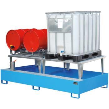 Stahl-Auffangwanne + Aufsatz (für 1 IBC) LxBxH 146