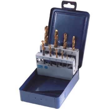 Vollhartmetall-Spiralbohrer DIN 6539 1-10/1,0 in M etallkassette