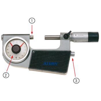 Feinzeiger-Messschraube 0 - 25 mm 0,001 mm im Etui