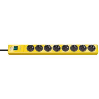 hugo! Steckdosenleiste 8-fach gelb 2m H05VV-F3G1,5