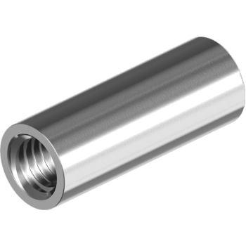 Gewindemuffen, runde Ausführung - Edelstahl A2 Innengewinde M 6x 20
