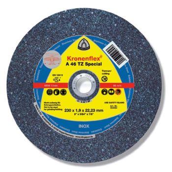 Trennscheibe INOX, SPEZIAL, A 46 TZ, gekröpft, Abm.: 230x1,9x22,23 mm