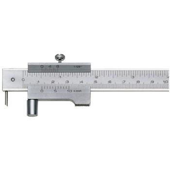 Streichmaß mit Laufrolle 200 mm mit HM-Reißnadel