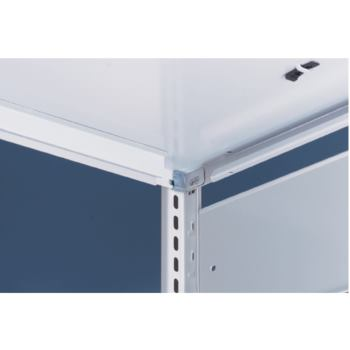 S3 Bürosteckregal verzinkt mit 7 Böden Grundr