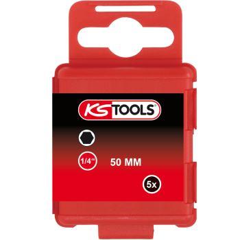 """1/4"""" Bit Innensechskant, 50mm, 3mm, 5er Pack 911.2"""