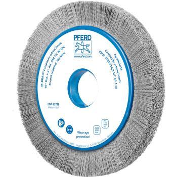 Rundbürste mit Plastikkörper, ungezopft RBUP 25025/50,8 SiC 80 1,10