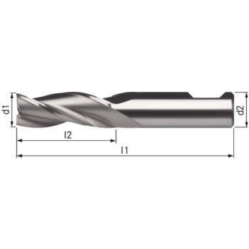 Eingwegfräser HSSE8 lang 7,0x16x48 mm Schaft DIN