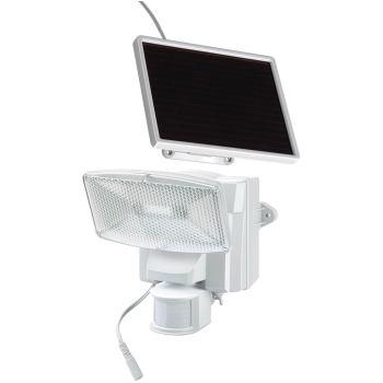 Solar LED-Strahler SOL 80 plus IP44 mit Infrarot-Bewegungsmelder 8xLED, Kabellänge 4,75m, Grau-Weiß