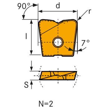 Hartmetall Wechselschneidplatte WPB-HF 16 mm LC63