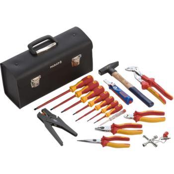 Werkzeugkoffer VDE - Werkzeugsatz in Ledertasche, 17-teilig