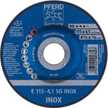 Schruppscheibe E 115-4 A 30 N SG-INOX/22,23
