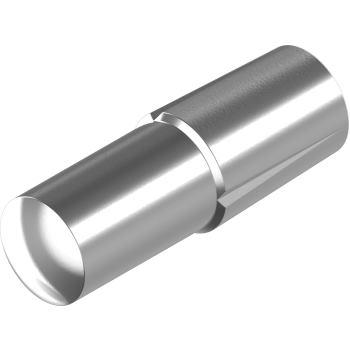 Steckkerbstifte DIN 1474/ISO 8741 -Edelstahl A1 6x 40