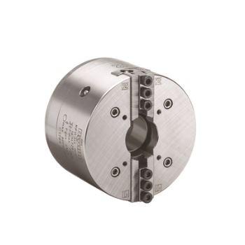 Kraftspannfutter KFD-HS 160, 2-Backen, Spitzverzahnung 90°, ISO 702-I