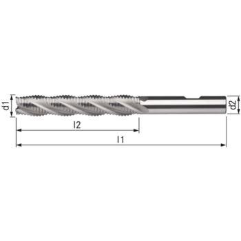 Schaftfräser HSSE5 NR extralang 28x140x205 mm Sch