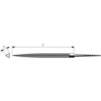 Präzisionsdreikantfeilen 150 mm Hieb 3 schmale Fo