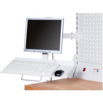 Bildschirm- u.Tastaturhalter Aufnahme von PC-Ta