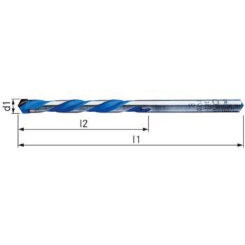 Vollhartmetall-Mehrzweckbohrer Durchmesser 8 x 250 mm