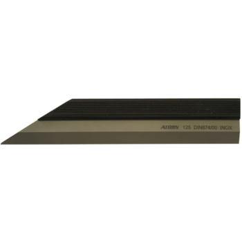 Haarlineal nichtrostend 125 mm ( aus Inox Stahl )