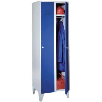 Kleiderschrank 2 Abteile mit Sockel, Abteilbreite