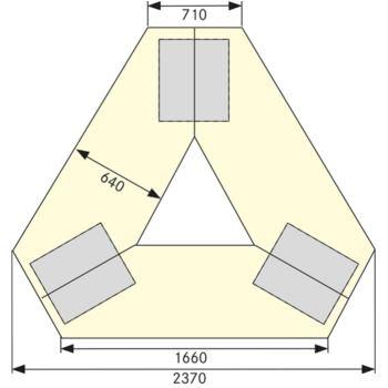 Gruppenwerkbank 302 VG B x Länge x H 2.370 x