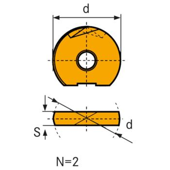 Hartmetall Wechselschneidplatte WPR-N 16 LC610Z