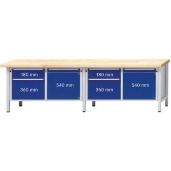 Werkbank Modell 232 V Platte Zinkblechbelag (