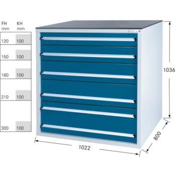 Werkzeugschrank System 800 B, Modell 32/5 GS -