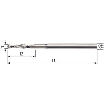 Kleinstbohrer HSSE DIN 1899A RN 0,35 mm zyl.