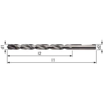 Vollhartmetall-Bohrer UNI TiAlNPlus Durchmesser 6, 2 Innenkühlung 12xD HE