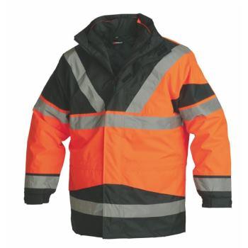 5-in-1 Warnschutz-Parka Klasse 3 orange Gr. M
