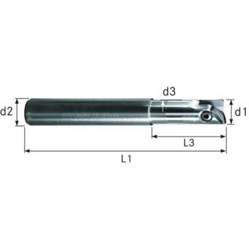 Vollhartmetall-Gesenkfräser GWR 10x52x122 mm Inne