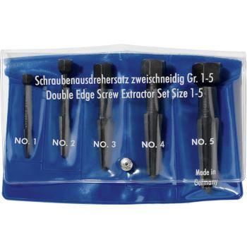 Schraubenausdreher-Set 2-schneidig, 5-teilig M5-M20