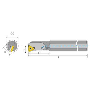 Klemmhalter für Innengewinde. SIR 0025 R16B innere Kühlmittel-Zufuhr